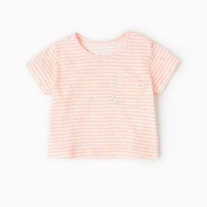 Zara baby Striped T-Shirt with Triangles